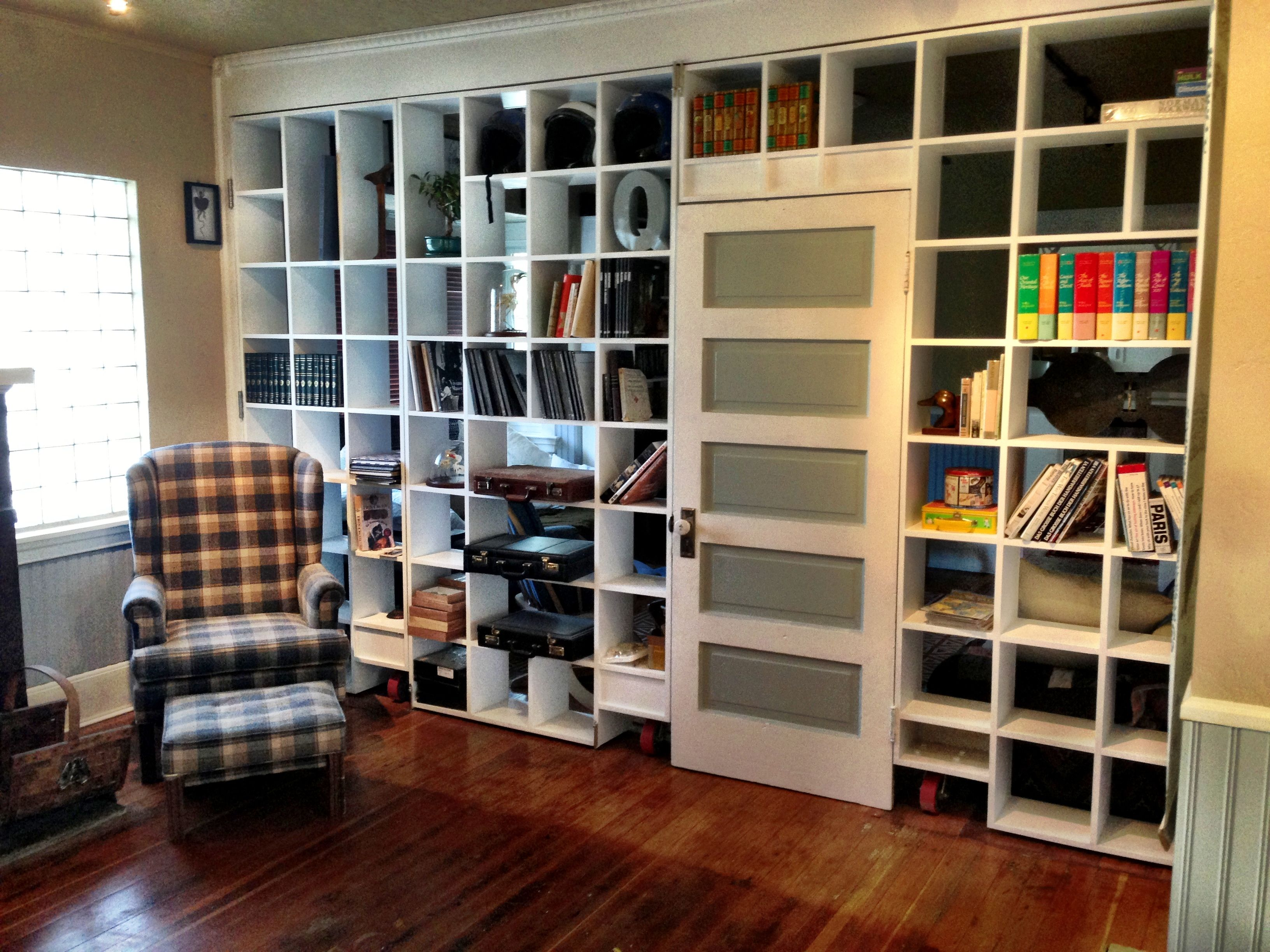 bookcase build room divider dividers open how to