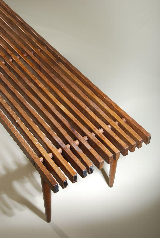 Vintage Midcentury Maple Bench