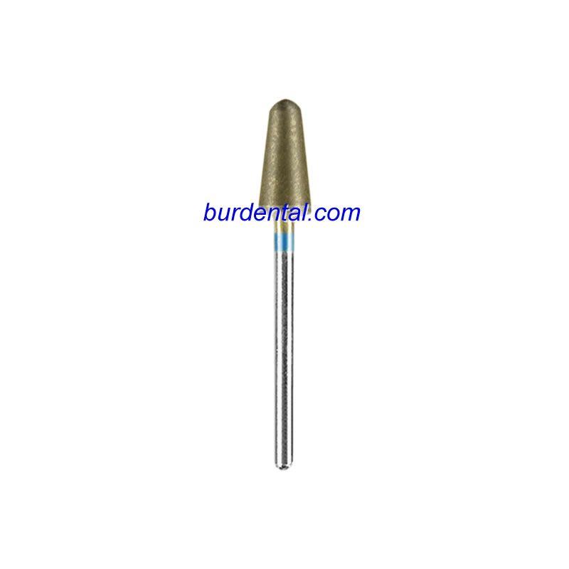 Medium Grit Rounded Taper Shape HP Shank Sintered Diamond Bur(L060)