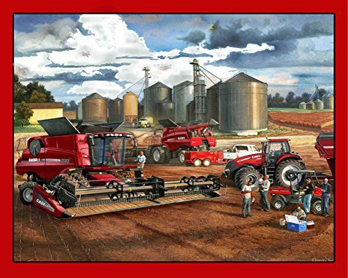 Case Ih Cotton Fabric Panel Case International Harvester Quilting