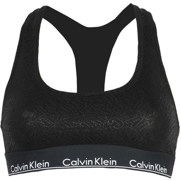 Calvin Klein Underwear Bra ($35) ❤ liked on Polyvore featuring black and calvin klein underwear