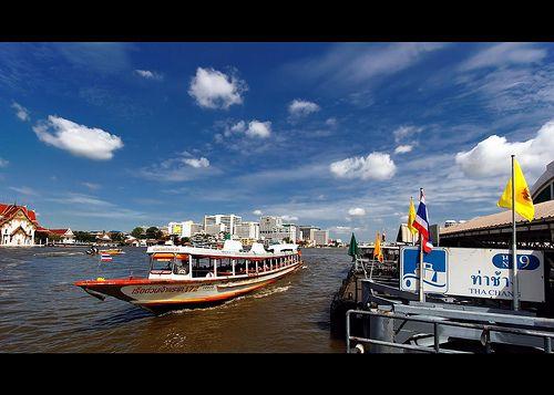 awesome Chao Phraya Express Boat | Tha Chang | Bangkok