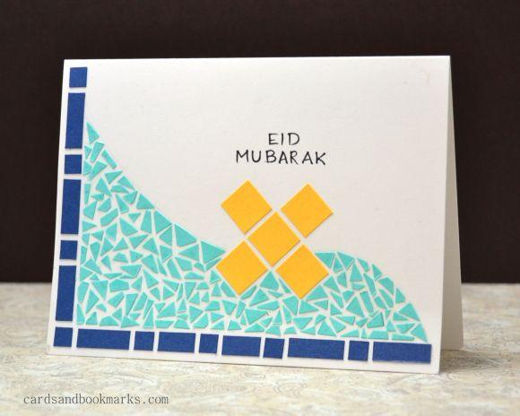 mosaic eid card