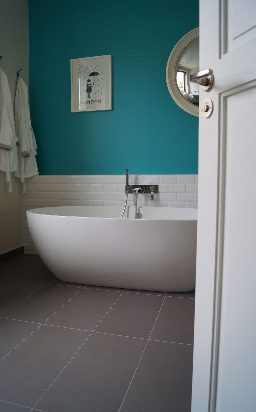 Salle De Bain Chocolat Turquoise salle de bains bleu turquoise (avec images) | salle de bain