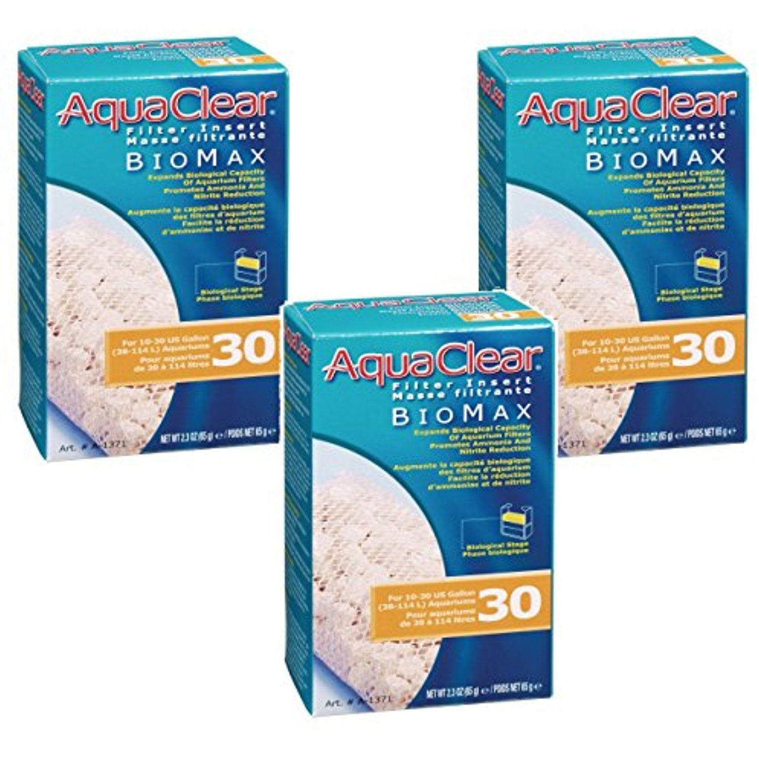 Aquaclear 30gallon Biomax (3 Pack) If you want to