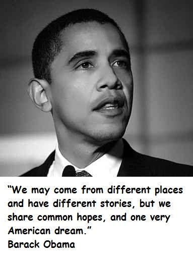Quotes About The American Dream Obama Quotes  Barack Obama Quotes  The Obama Collection