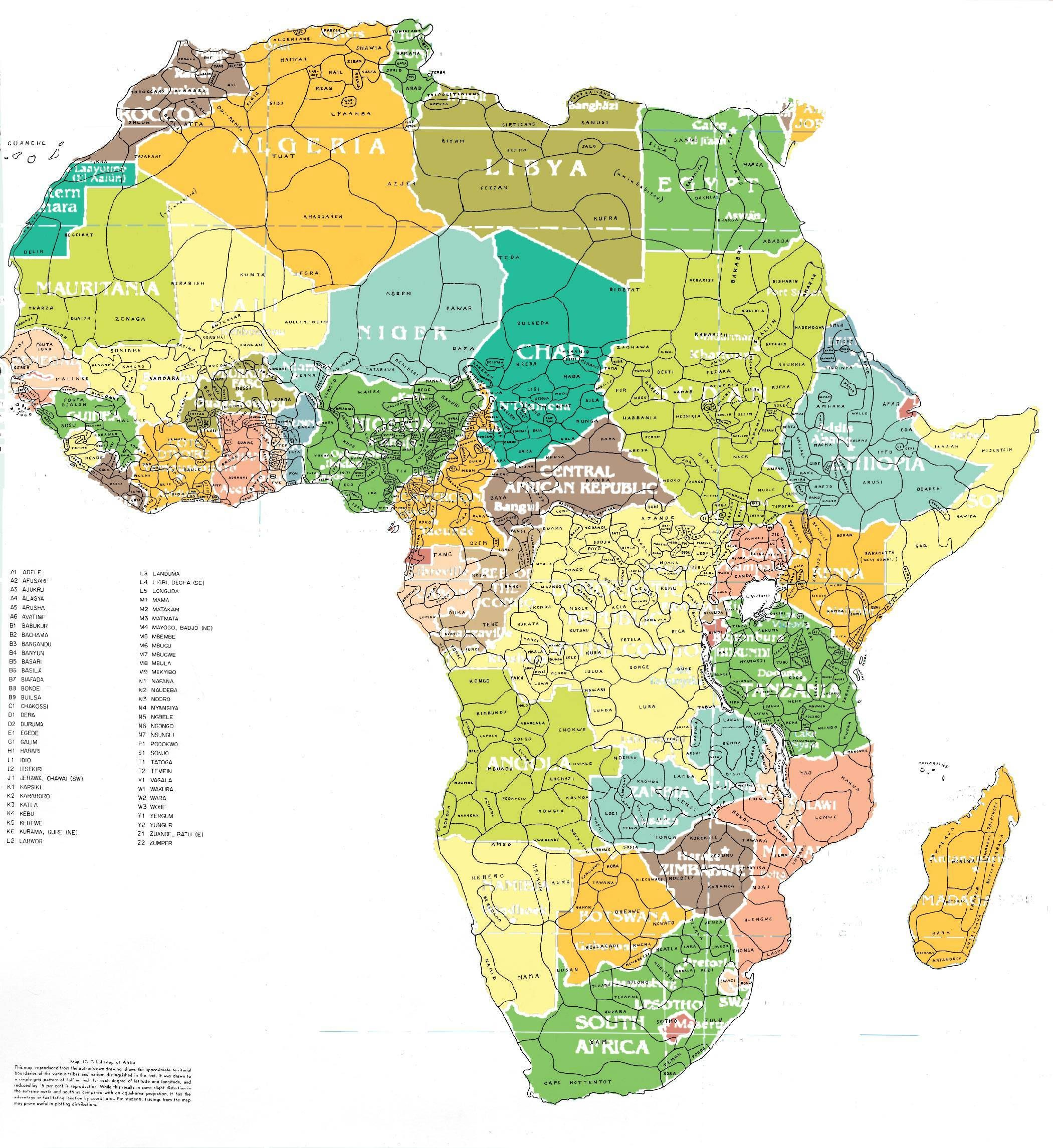 Map Of Tribes In Africa african tribe map   Google Zoeken