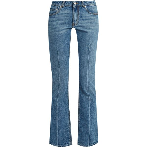 Cropped Mid-rise Flared Jeans - Light denim Alexander McQueen 0kIs2
