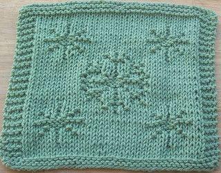 More Snowflakes Knit Dishcloth pattern by Lisa Millan ...