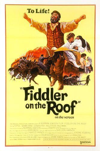 Fiddler on the roof Topol vintage movie poster #3