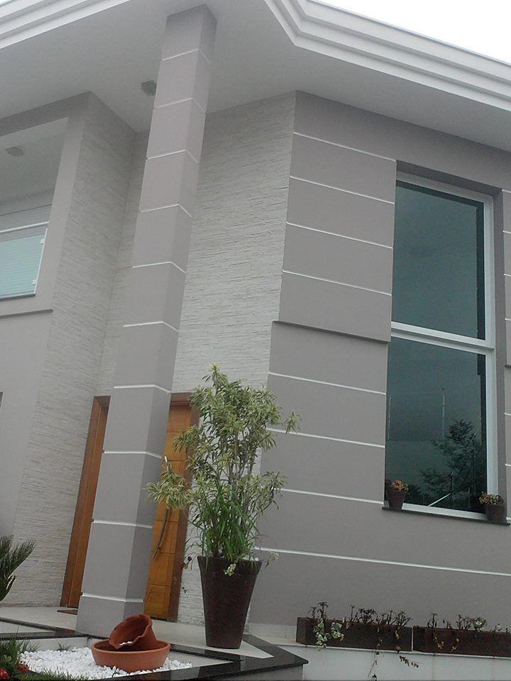 Ideia de cor para fachada arabesco suvinil casa em for Cores modernas para fachadas de casas 2016