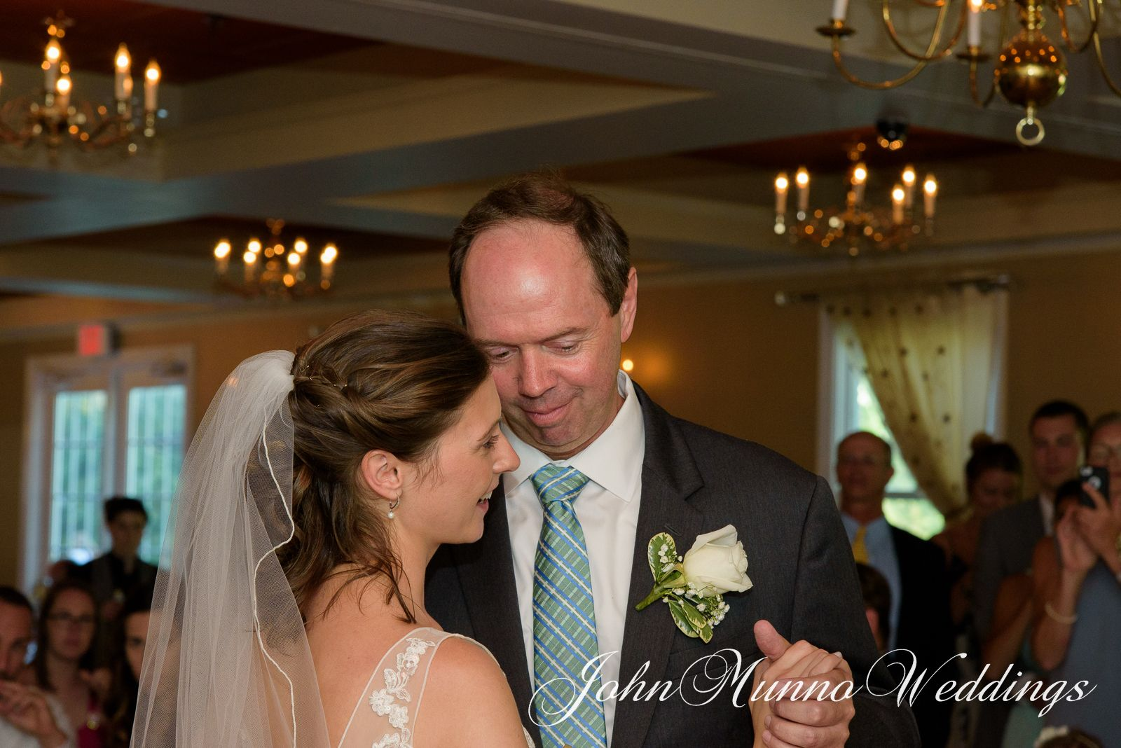 Father Daughter Dance During Their Wedding Reception At The Litchfield Inn In Connecticut