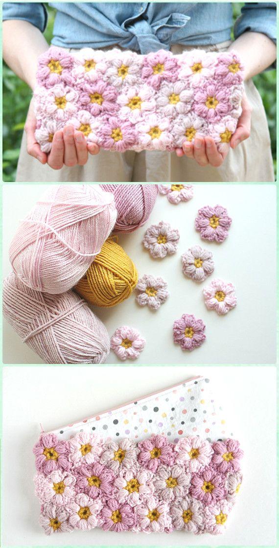 Crochet Puff Flower - Crochet Lamb