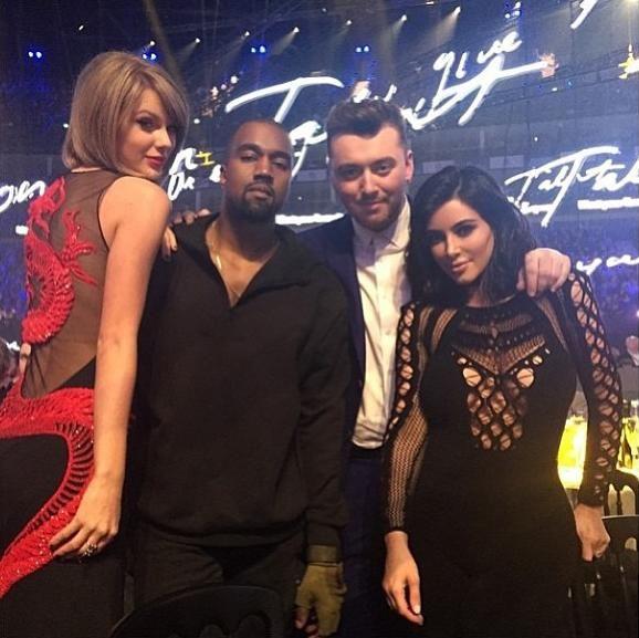 Sam Smith S Best Insta Moments Kim Kardashian Kanye West Taylor Swift Pictures Kim Kardashian And Kanye