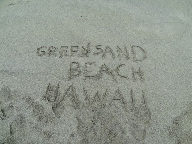 la Green Sand Beach sur Hawaii (Big Island)