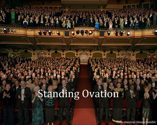Little Musical Things Theatre Audience Standing Ovation Audience