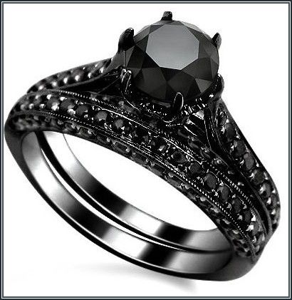impressive black wedding bands for her more design httparticleallcom - Black Wedding Rings For Her