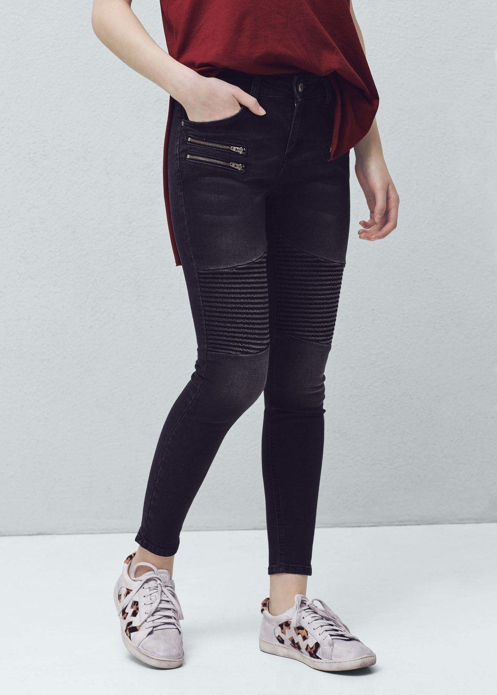 Only Damen Jeans Skinny Fit Stretch Biker Used Look Casual Cool Denim NEU