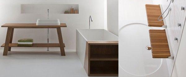 houten plank badkamer massief werkblad - For the Home | Pinterest ...