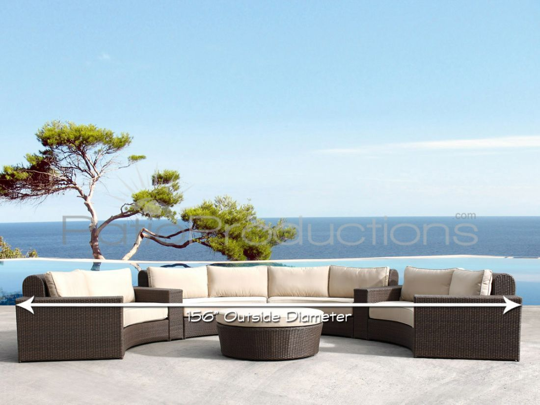Pico Wicker Sectional Set   Patio Productions