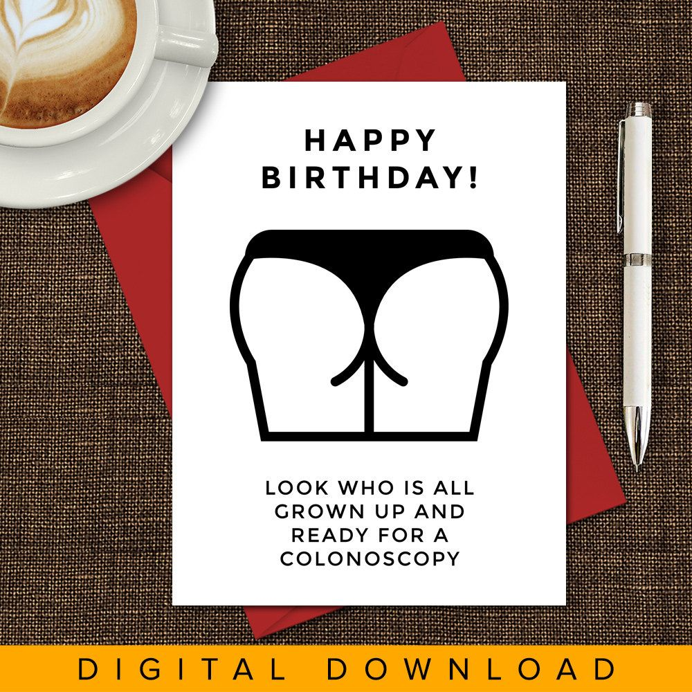 Printable Birthday Card Old Age Hilarious Insulting Funny By VandelaysArt On Etsy