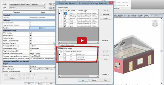 Roombook Areabook Buildingbook Extension for Revit 2015: The