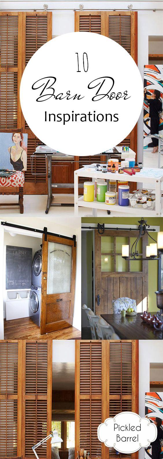 10 Barn Door Inspirations | Wohnen