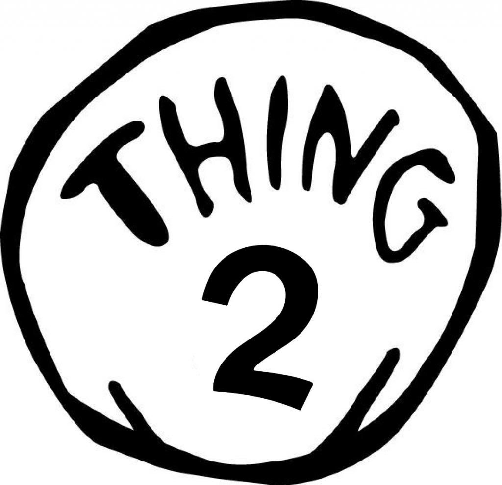 Unusual image pertaining to thing 1 and thing 2 logo printable