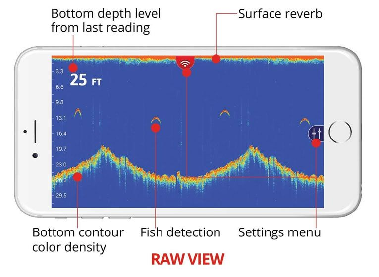 Fishhunter pro wireless portable fish finder locates up to