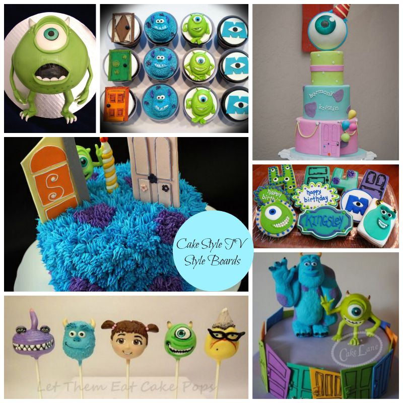 Monsters Inc Cake Collagejpg CAKE STYLE Tutorials by Cake