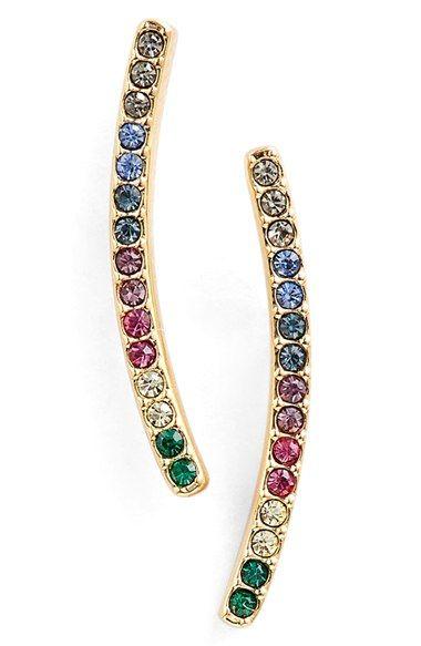 Nadri Pavé Bar Earrings available at #Nordstrom