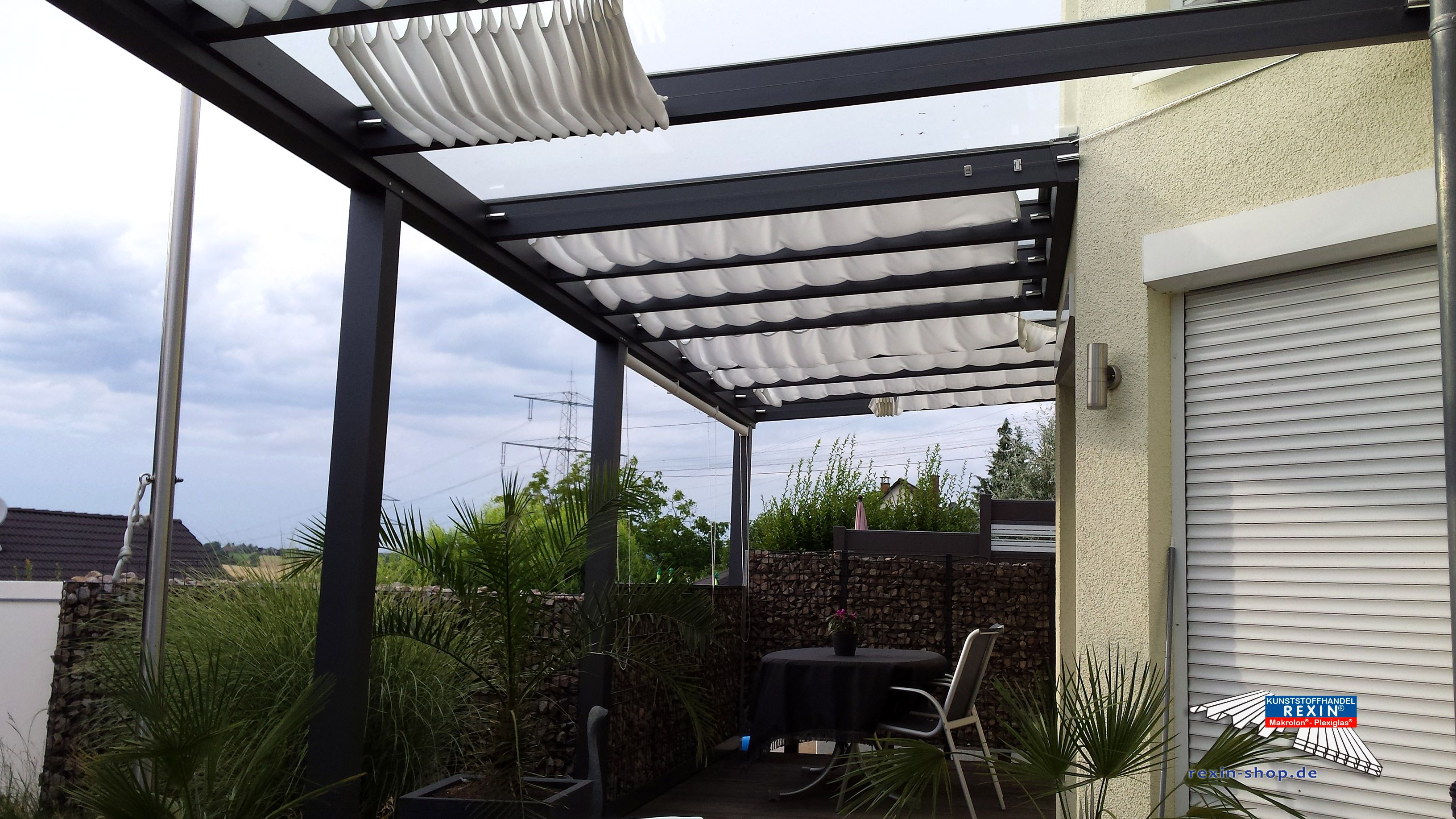 alu terrassendach der marke rexopremium 10m x 4m in. Black Bedroom Furniture Sets. Home Design Ideas