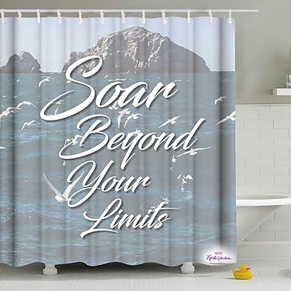 Soar Beyond Your Limits Shower Curtain Multi Shower Curtain