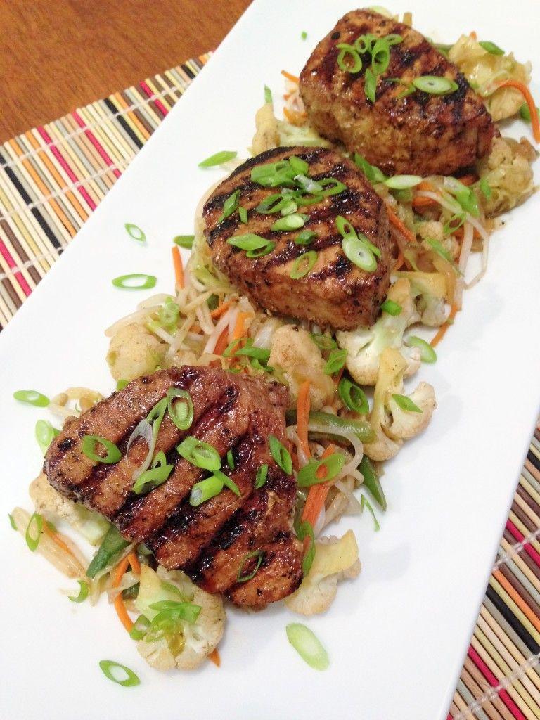 Gluten Free Grilled Tuna Steaks with Vegetables | Gluten ...