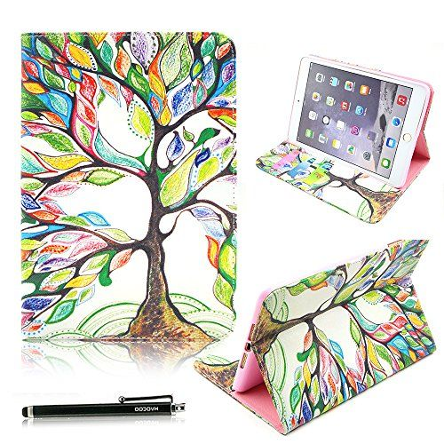 iPad Mini Case, HAOCOO Stylish Art Printed PU Leather Stand Protective Case with Card Slots forApple iPad Mini / iPad mini 2 / iPad mini 3 - Flip Folio Case Cover for iPad Mini 1/ 2 /3 (Tree of Life)