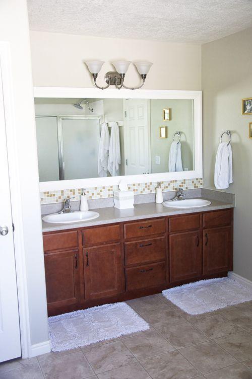 framing a mirror in a bathroom | Framing bathroom mirror | For the ...