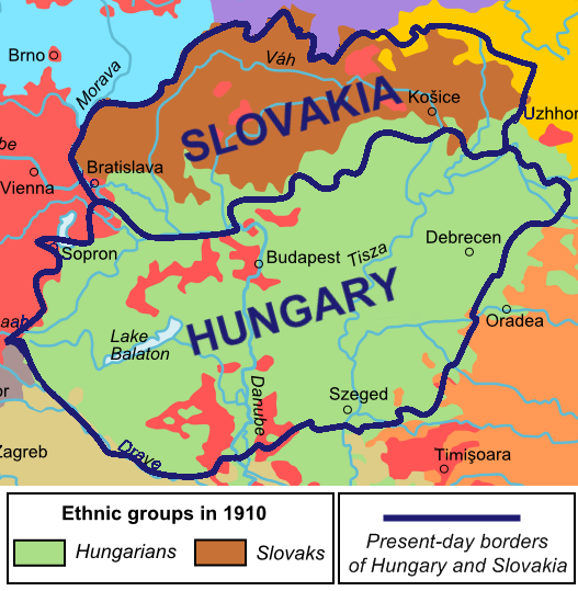 Ethnic Map Of Slovakia In 1910 The World Pinterest Map