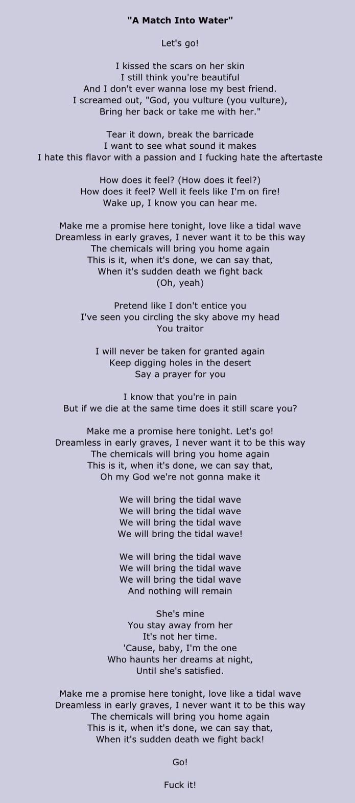 Pierce The Veil Has Brilliant 10 10 Lyrics