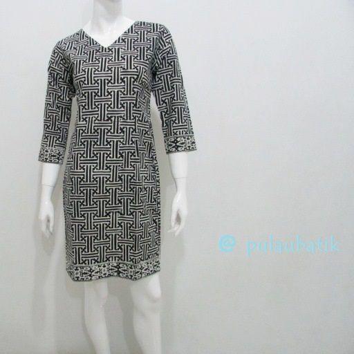 Model Baju Dress Batik Panjang Selutut Yang Modis Elegant Dan