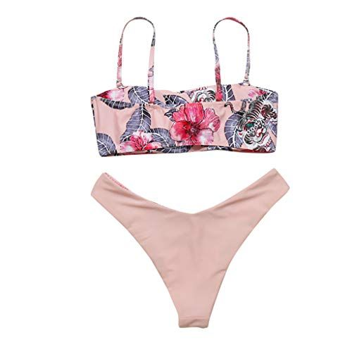 1bfbe4335d RAISINGTOP Women's Swimwear Two Pieces Bikini Set Push Up Floral Print  Tankini Bathing Suits Swimsuit Sexy