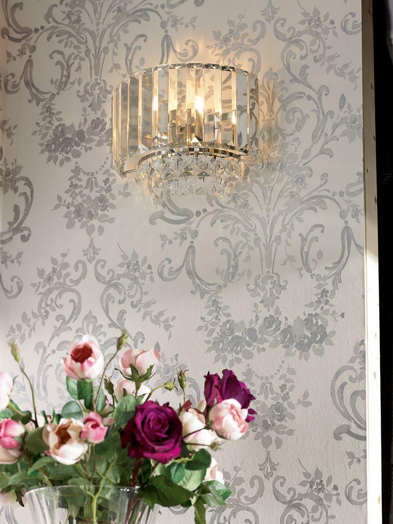 Aston Silver Patterned Wallpaper Laura Ashley USA Anikas Room