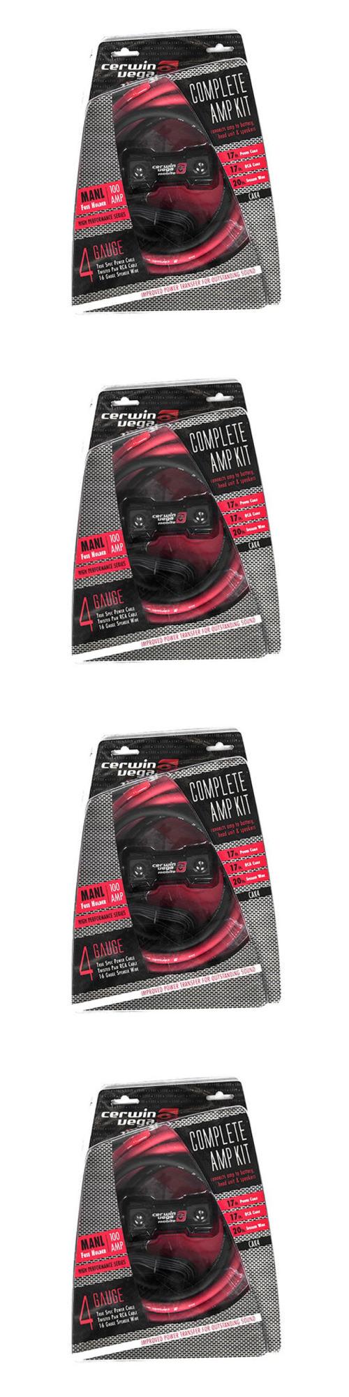 Amplifier Kits Cerwin Vega 4ga Complete Car Cak4 Buy Gauge Amp Installation Power Wiring Kit Ofc Ebay It Now Only Amplifierebay