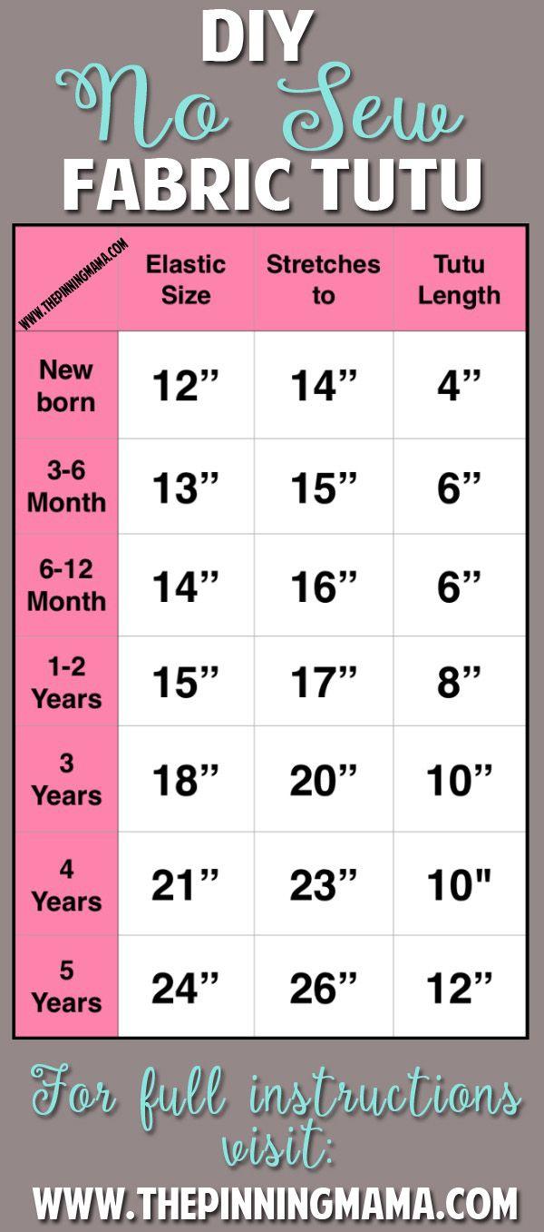 No Sew Tutu Size Chart  Crafty    Tutu Size Chart