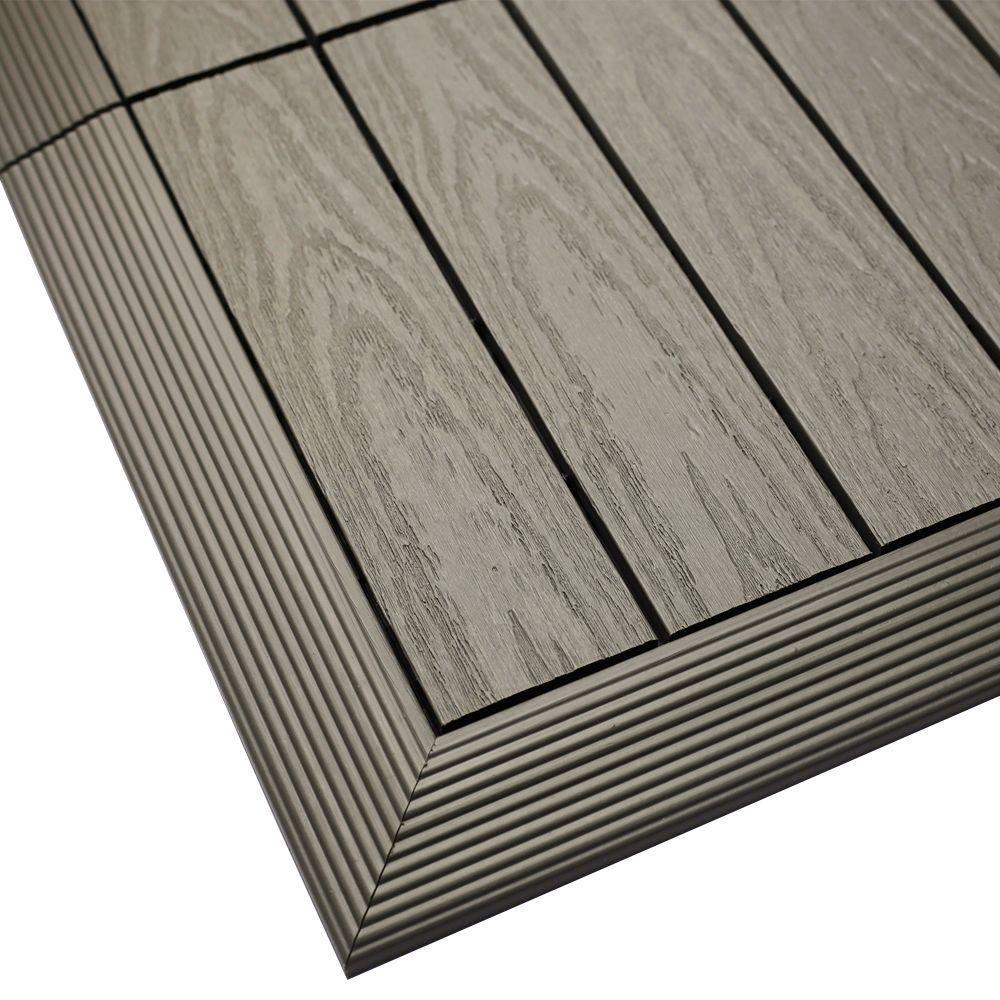 NewTechWood 1/6 ft. x 1 ft. Quick Deck Composite Deck Tile