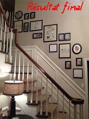 Mise en cadre photo terminée | mur d encadrements vide | Pinterest ...