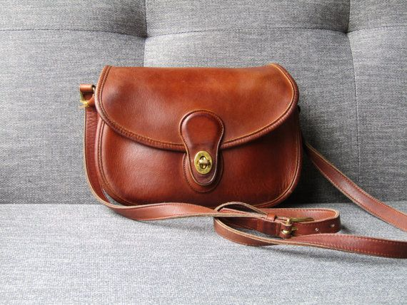 732936b0d3e4 Vintage Coach • Prairie Bag • 9954 • Brown Saddle Bag • Cross Body ...