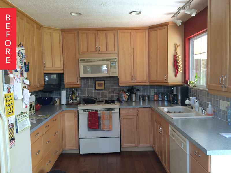 Megan was tired of her kitchen, and after gathering inspiration, began a slowly-but-surely remodel, tackling projects on the weekends. It took six months, but she's pretty thrilled with the results:
