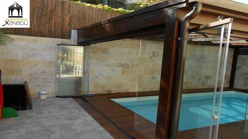 Cerramiento y cubricion de piscinas en vidrio doble acristalamiento cortinas de cristal y - Cerramientos para piscinas ...
