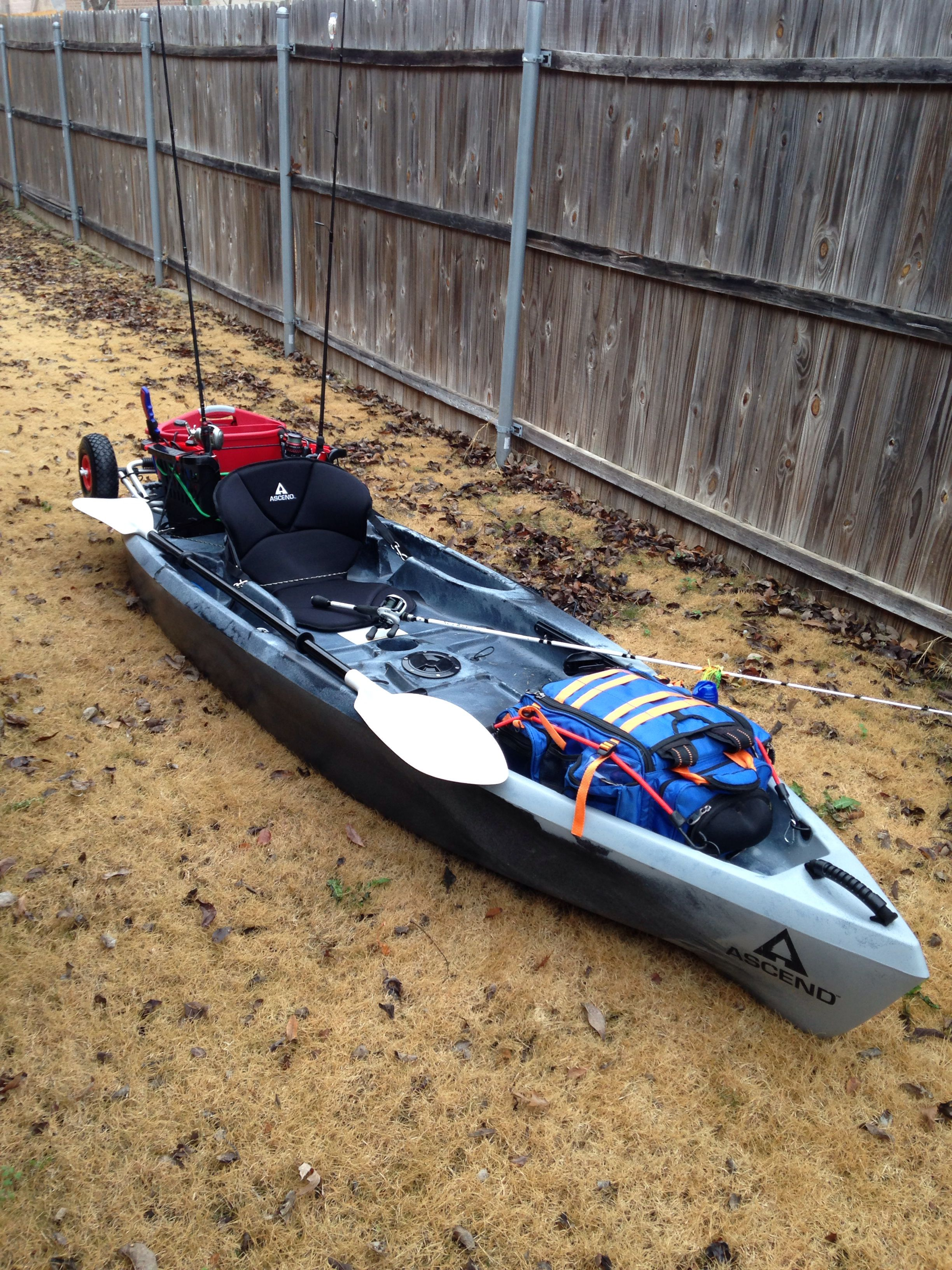 My ascend d10t sit on kayak got it all rigged for fishing for Fishing kayak mods