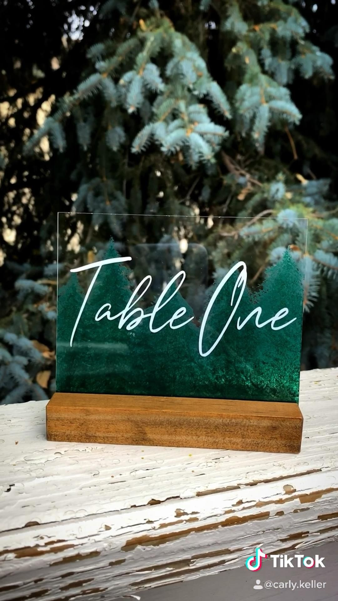Photo of Painted Acrylic Table Number